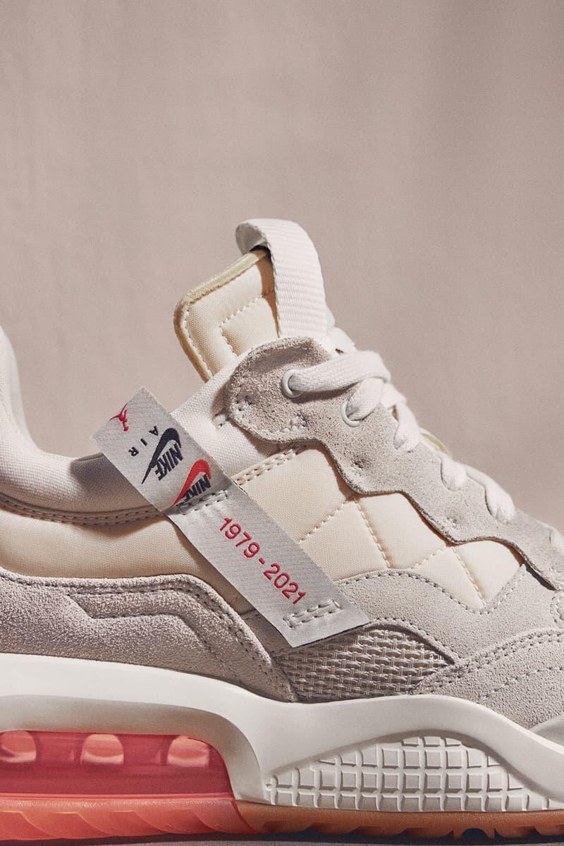 nike jordan brand womens ma 2 sneakers socks pink sneakerhead footwear close up shoes close up details lateral