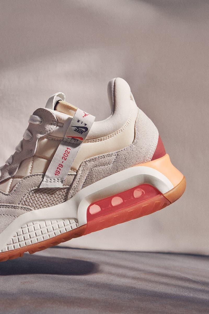 nike jordan brand womens ma 2 sneakers socks pink sneakerhead footwear close up shoes close up details lateral heel