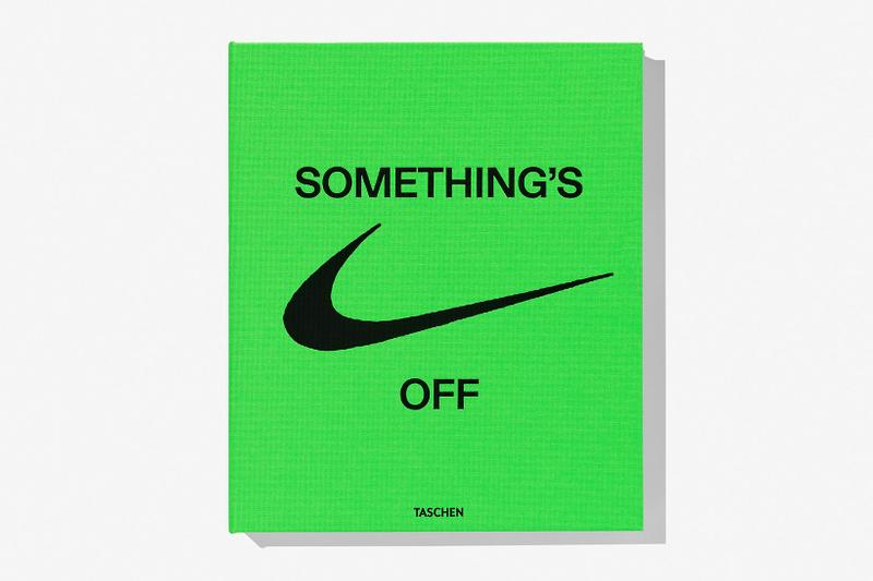 virgil abloh nike icons book retrospective collaboration taschen off-white neon green coffee table