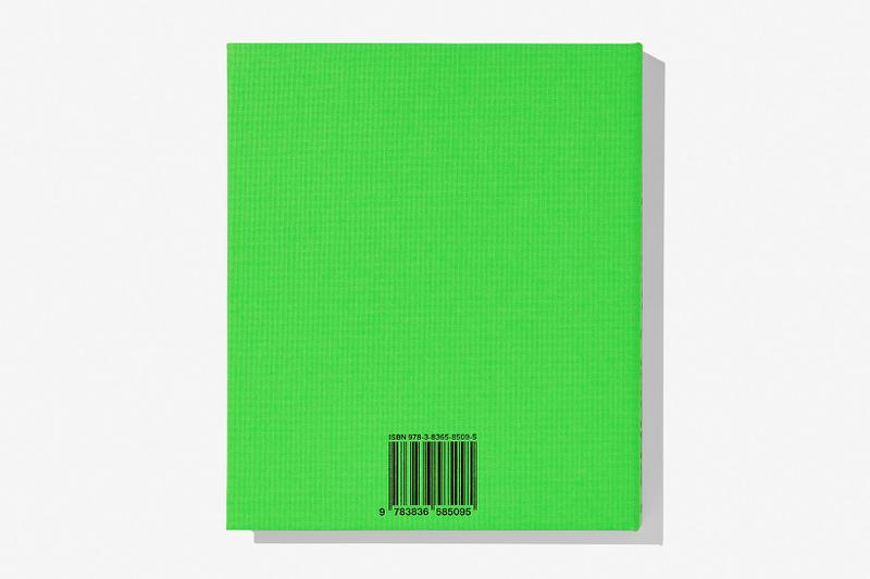 virgil abloh nike icons book retrospective collaboration taschen off-white neon green back cover