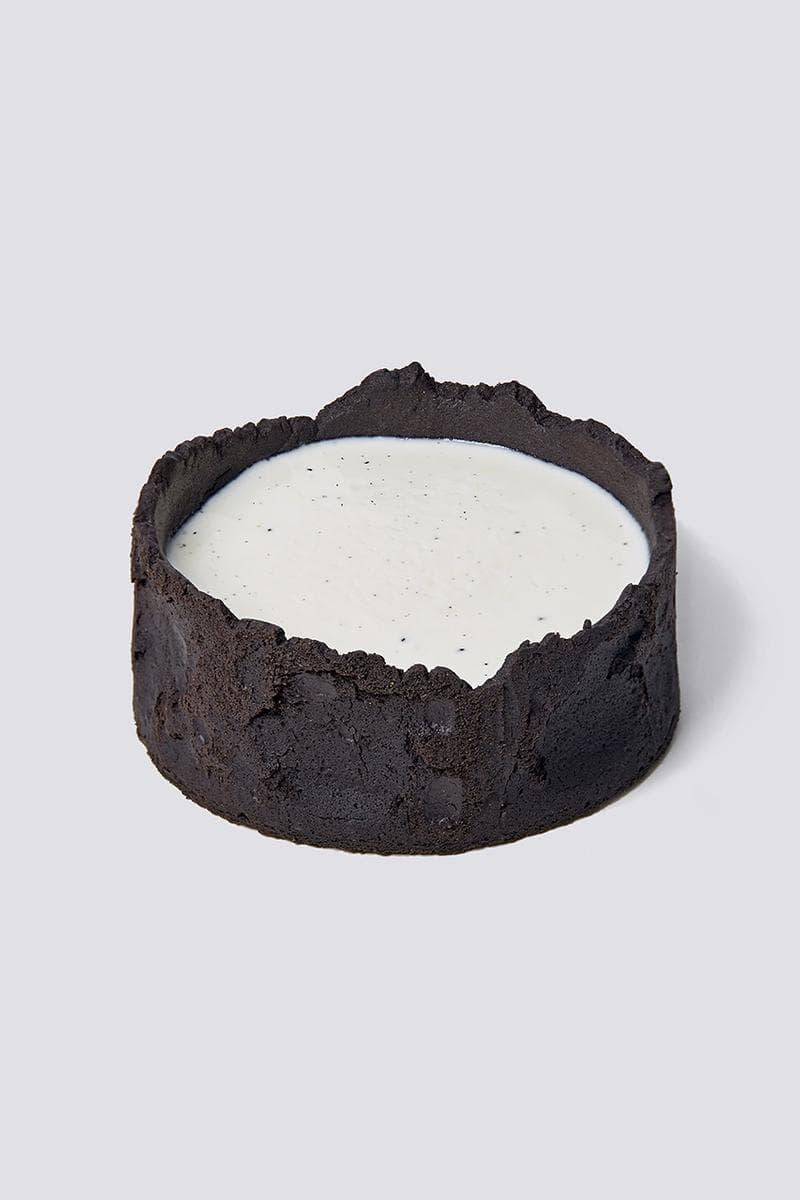 nudake gentle monster dessert brand seoul flagship cake black crust white cream
