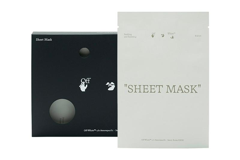 off-white amorepacific k-beauty collaboration virgil abloh sheet mask skincare