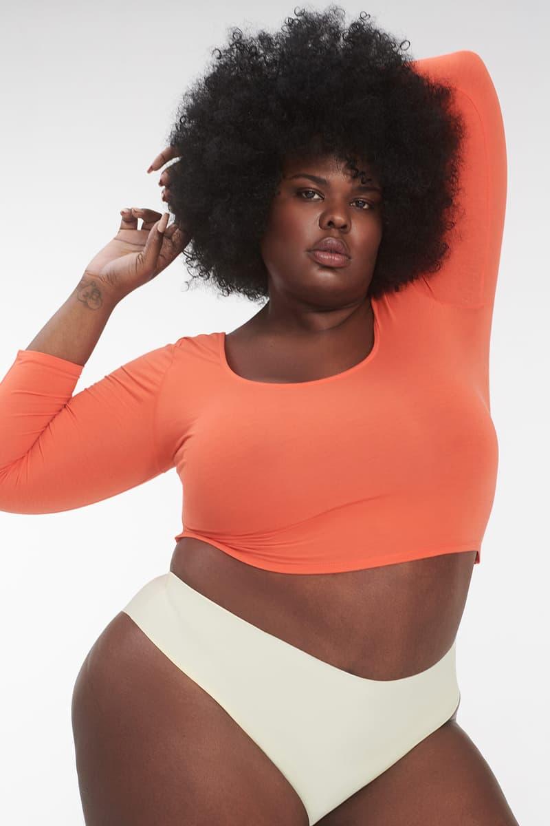 parade universal underwear carbon neutral sustainable seamless white brief orange sweater