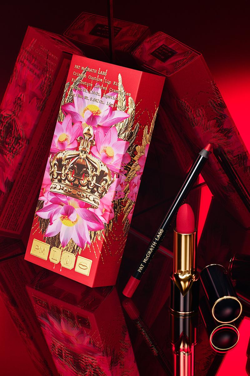 pat mcgrath labs crimson couture lip kit mattetrance lipstick permagel ultra pencil red mirror