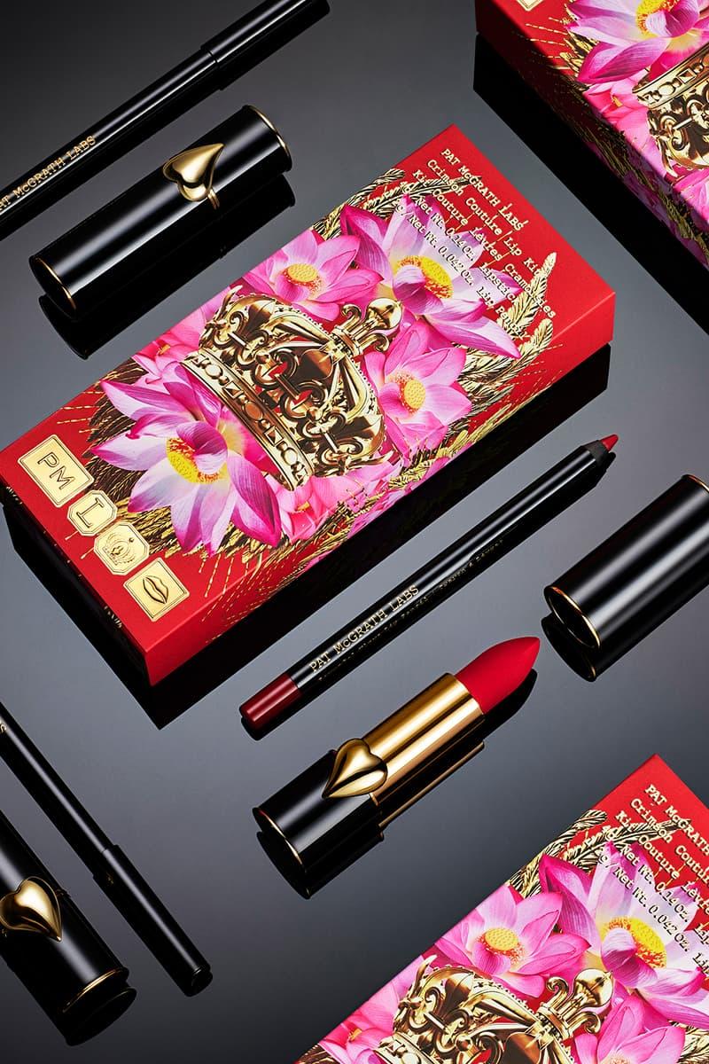 pat mcgrath labs crimson couture lip kit mattetrance lipstick permagel ultra pencil red black flatlay