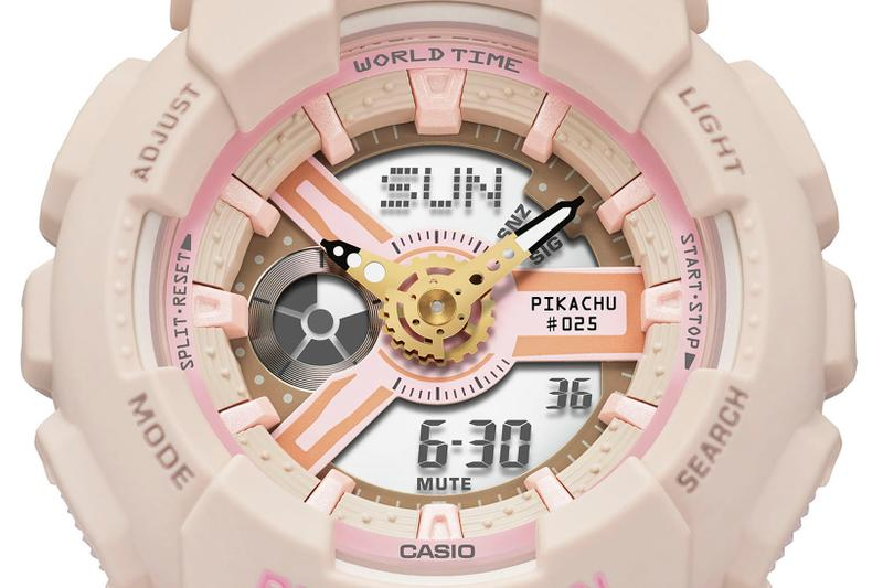Pokémon x Casio G-SHOCK BABY-G Watch Collaboration Pikachu Pink Camo