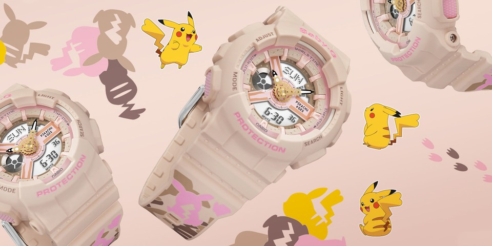 G-SHOCK Collaborates With Pokémon on Pikachu BABY-G Watch