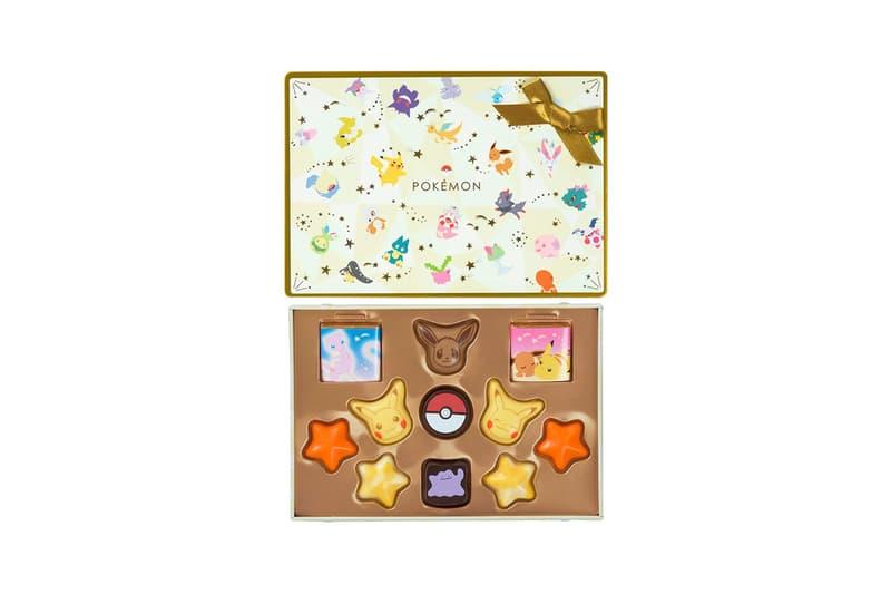 pokemon matsukazeya valentines day chocolates collaboration dessert evee pikachu stars box