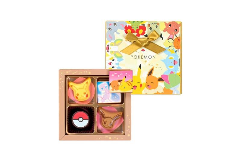 pokemon matsukazeya valentines day chocolates collaboration dessert pikachu mew dragonite ditto eevee