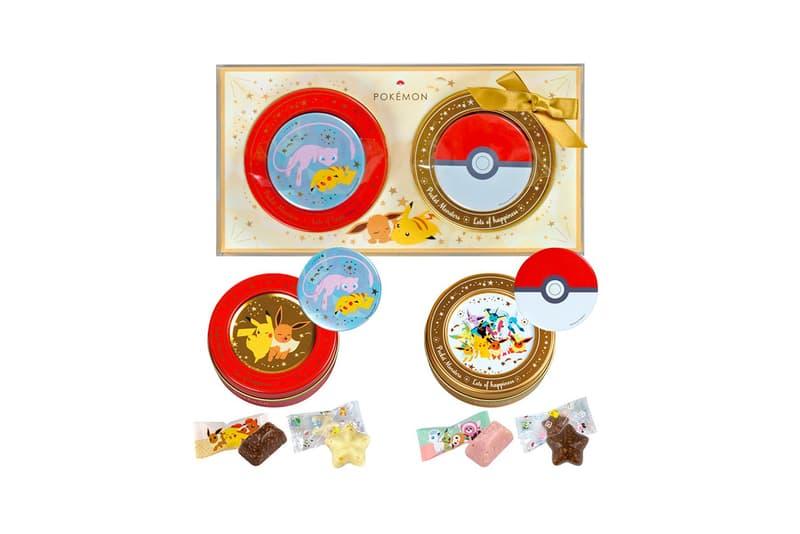 pokemon matsukazeya valentines day chocolates collaboration dessert pikachu mew dragonite ditto eevee poke balls candy