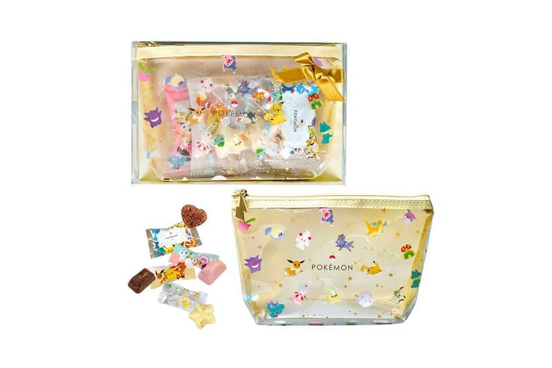 pokemon matsukazeya valentines day chocolates collaboration dessert pikachu mew dragonite ditto eevee bag candy treats