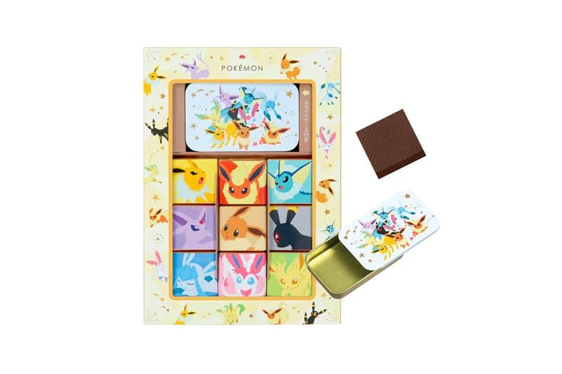 pokemon matsukazeya valentines day chocolates collaboration dessert pikachu mew dragonite ditto eevee candy treats box