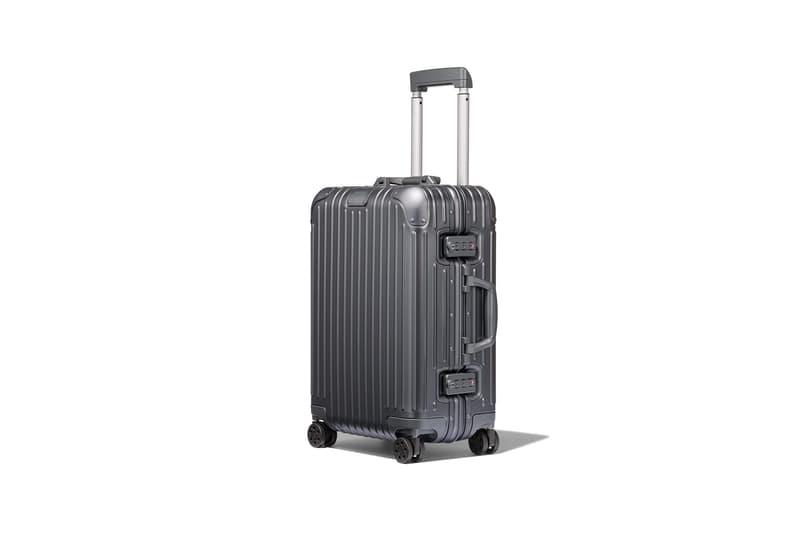 rimowa aluminium original collection new colorways mercury gray cabin suitcase luggage handle side view