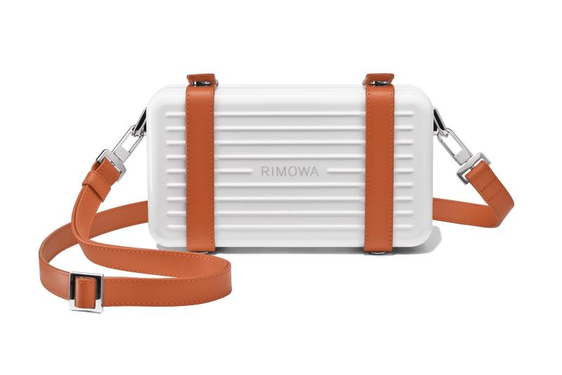 rimowa aluminium original collection new colorways personal white brown front view strap