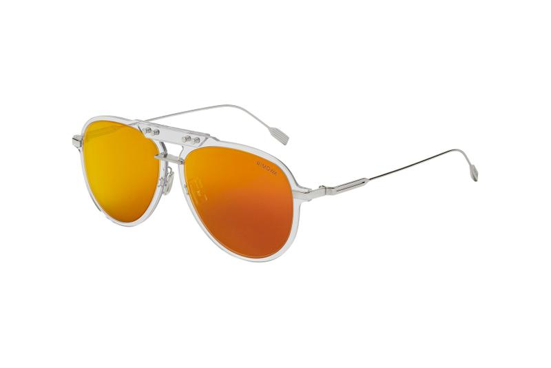 rimowa bridge sunglasses shades accessory side view mars orange colorway