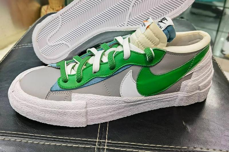 """sacai x Nike Blazer Low """"Classic Green"""" Release Information Sneaker Collaboration Chitose Abe"""