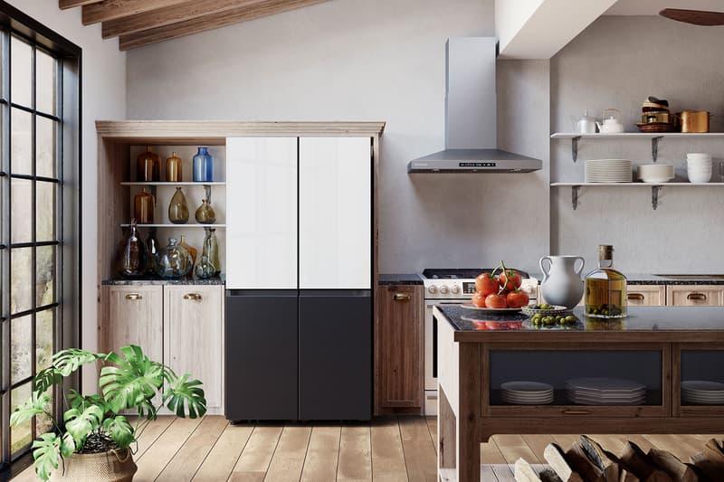 samsung bespoke refrigerator black white home kitchen gadgets appliances