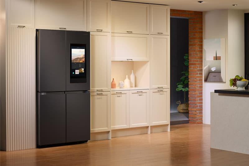 samsung bespoke smart refrigerator family hub black home kitchen gadgets appliances