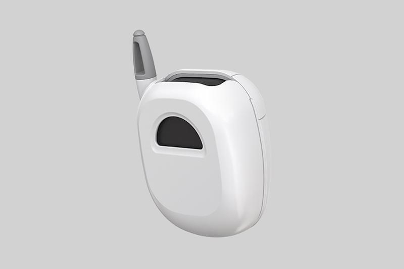 samsung galaxy buds pro anycall protective case sgh t100 white phone back view