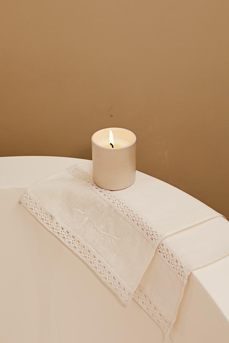 sleeper home homeware decor collection cloth towel white candle bath tub toilet