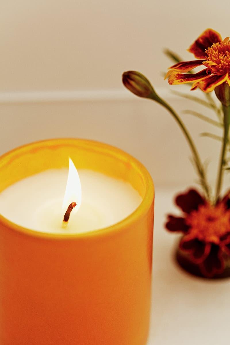 sleeper home homeware decor collection candle flower orange
