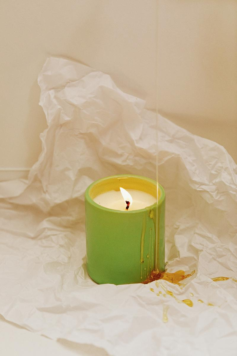 sleeper home homeware decor collection candle green honey white sheet