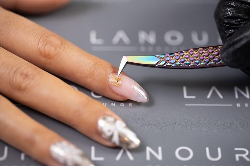 microchip nails manicure nfc technology wireless payments dubai salon lanour beauty lounge