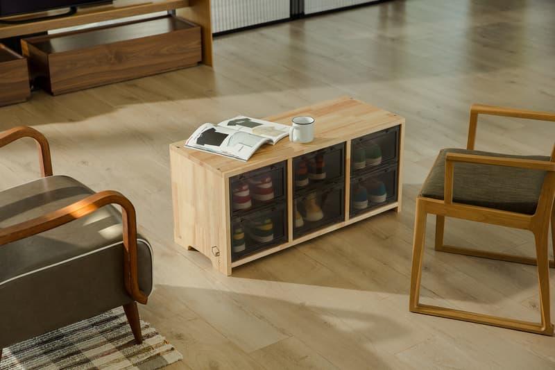 Sneaker Storage Organizer Bench Shoe Box Tower Box Wooden Stool