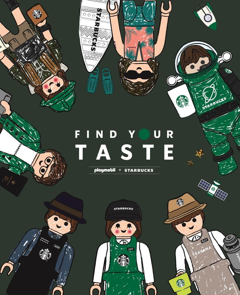 starbucks korea playmobil collaboration special edition figures toys find your taste characters illustrations drawings