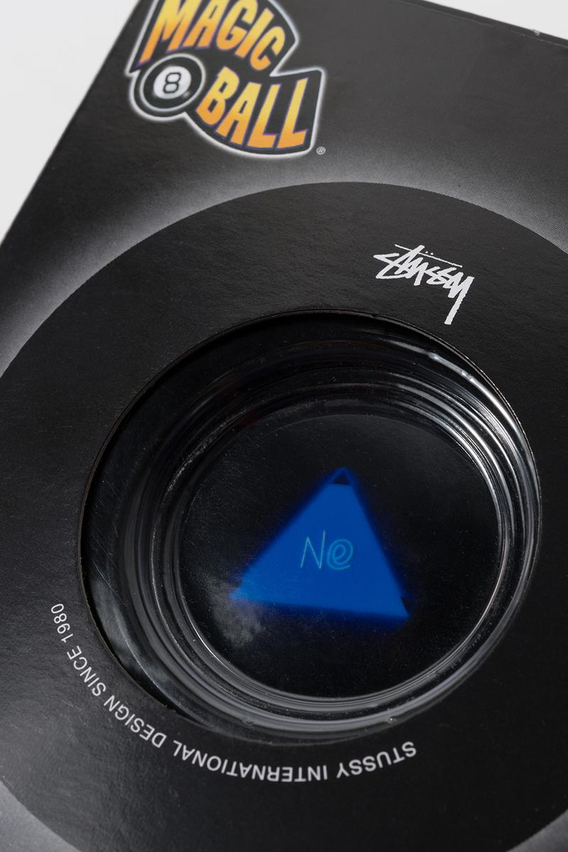stussy mattel creations magic 8 ball collaboration toy fortune teller black box
