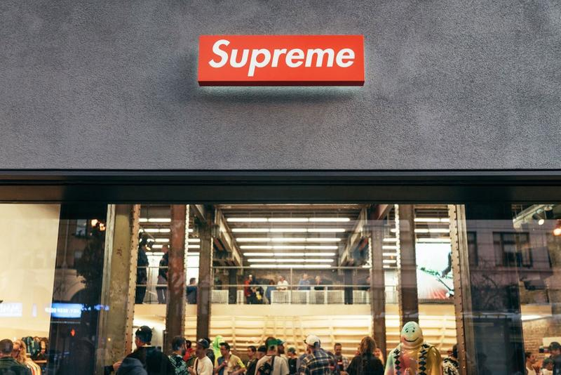 supreme new york store logo red box online sale fashion fall winter 2020 collection