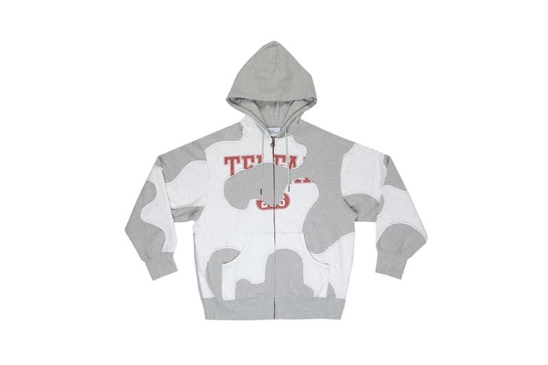 telfar camo hoodie winter apparel gray red