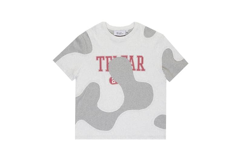 telfar camo tee t shirt apparel gray red