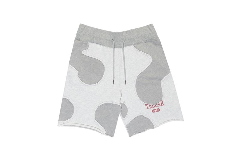 telfar camo shorts apparel gray red