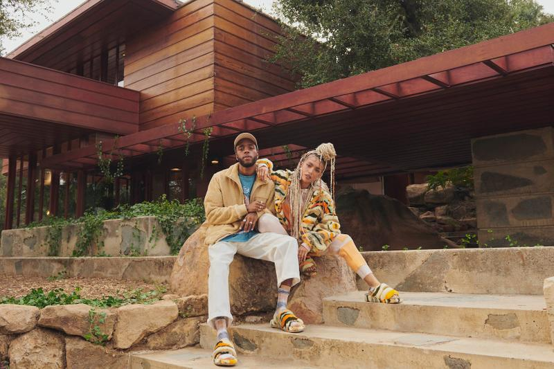ugg spring summer collection campaign 6lack quin cali collage print fluff yeah sandals marlene jacket house
