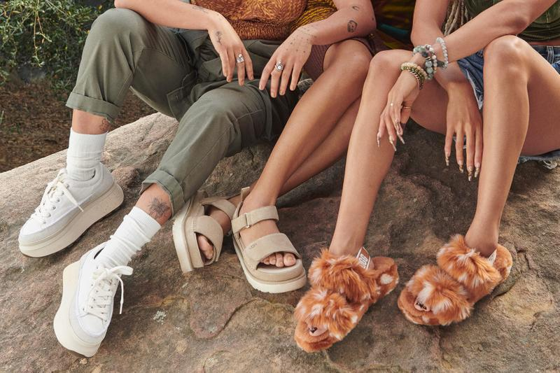ugg spring summer collection campaign quin blai bailey quinones sneakers fluff yeah slides sandals
