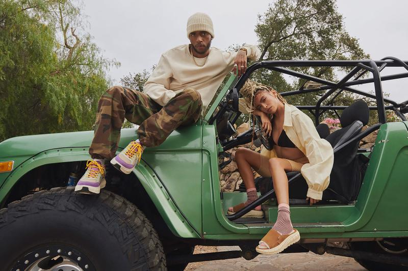 ugg spring summer collection campaign 6lack quin sandals sneakers car beanie camo pants sweater shirt