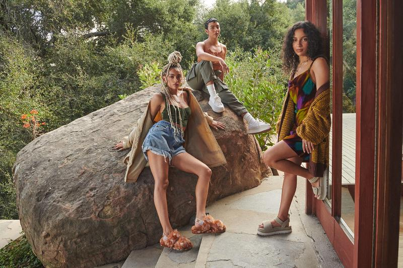 ugg spring summer collection campaign quin blai bailey quinones fluff yeah sandals slides sneakers shorts sweater