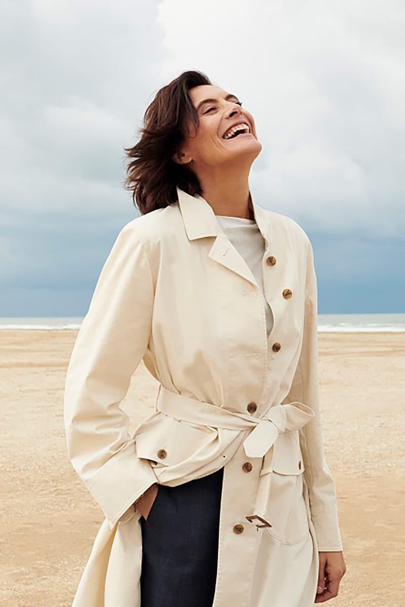 uniqlo ines de la fressange spring summer collaboration coat pants jacket outerwear beach