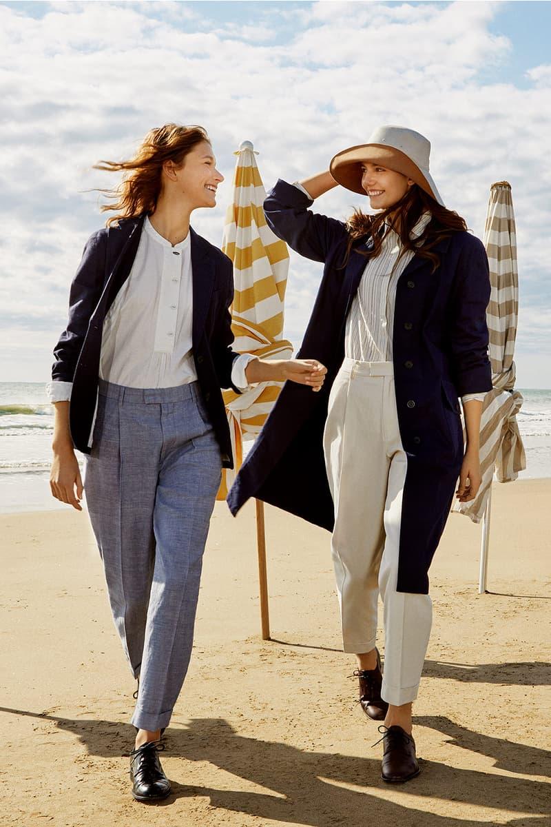 uniqlo ines de la fressange spring summer collaboration jacket pants shirt pants shoes hats beach