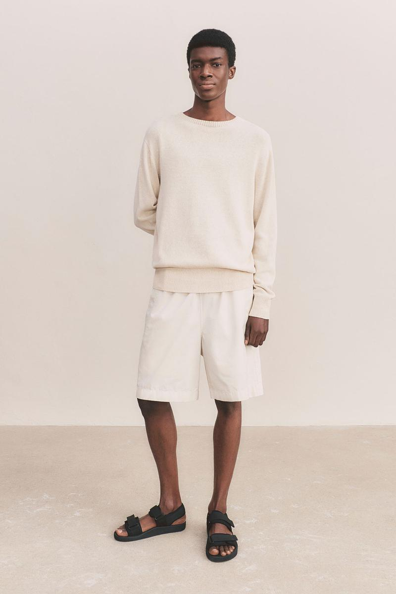 uniqlo u spring summer collection white sweater shorts sandals