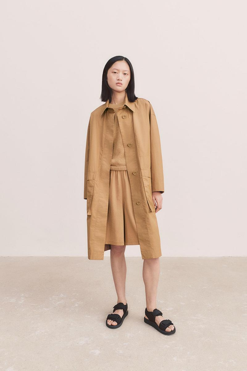 uniqlo u spring summer collection brown jacket skirt sandals
