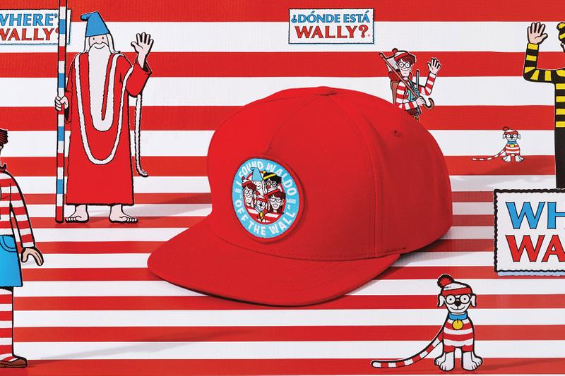 vans wheres waldo wally collaboration red cap hat