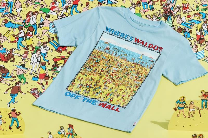 vans wheres waldo wally collaboration t-shirt blue