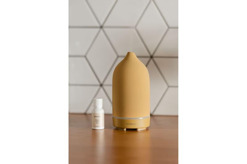vitruvi stone diffusers essential oils colors honey yellow homeware decor