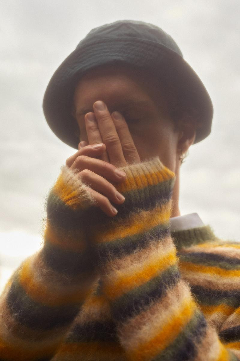 wood wood spring summer collection campaign sweaters hats stripes