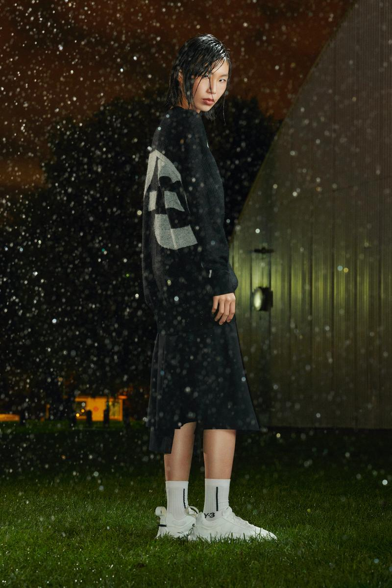 y-3 spring summer collection gore tex outerwear jacket skirt sneakers socks