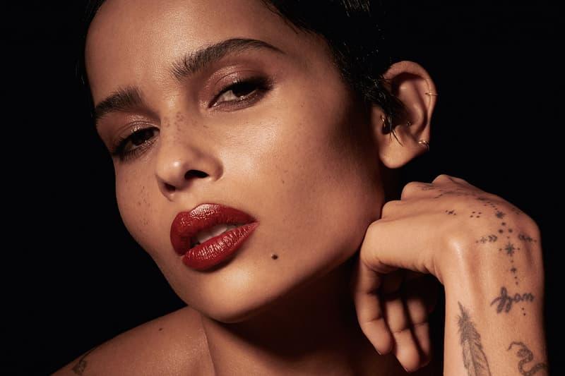 ysl beauty zoe kravitz rouge pur couture lipstick collaboration makeup