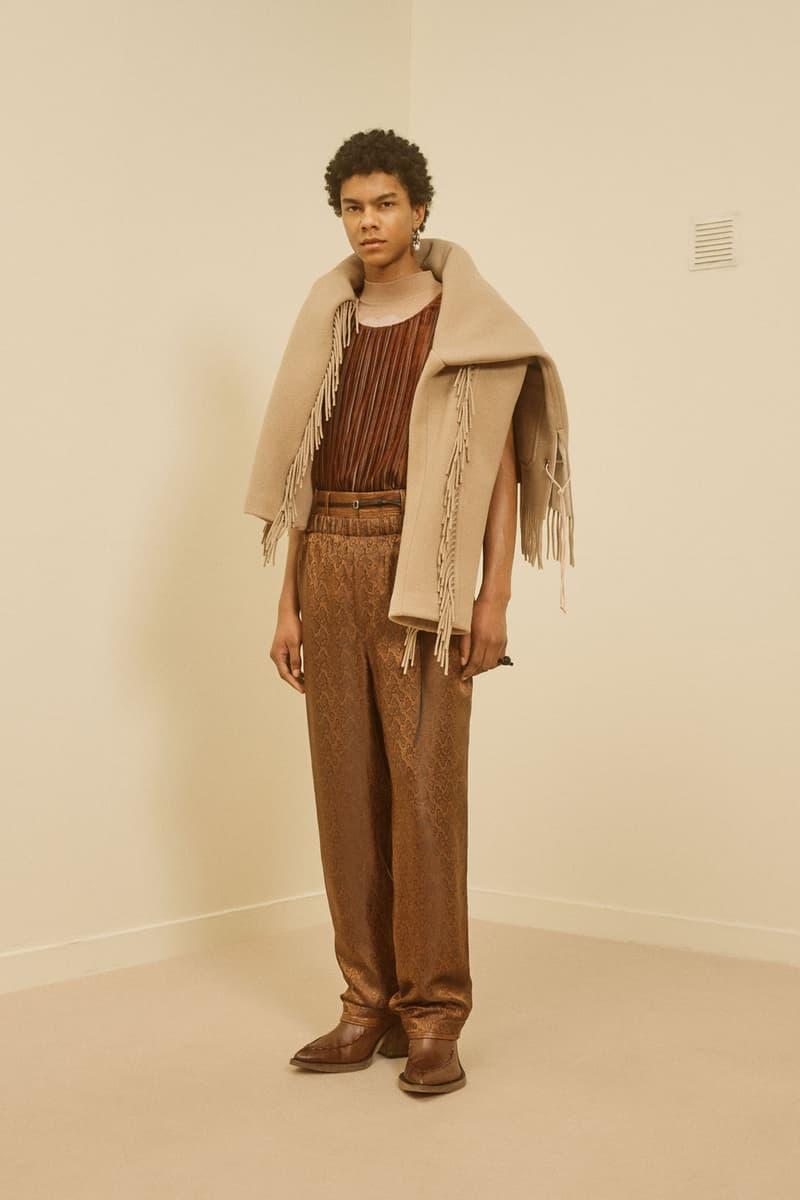 acne studios menswear fall winter 2021 fw21 collection lookbook fringe shawl jacket