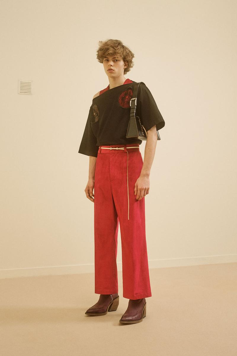 acne studios menswear fall winter 2021 fw21 collection lookbook t-shirt pants red